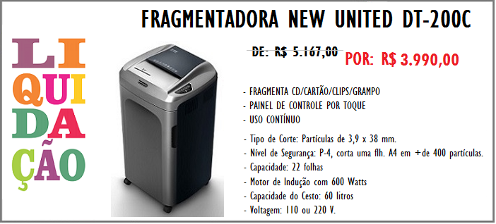 Fragmentadora New United DT-200C